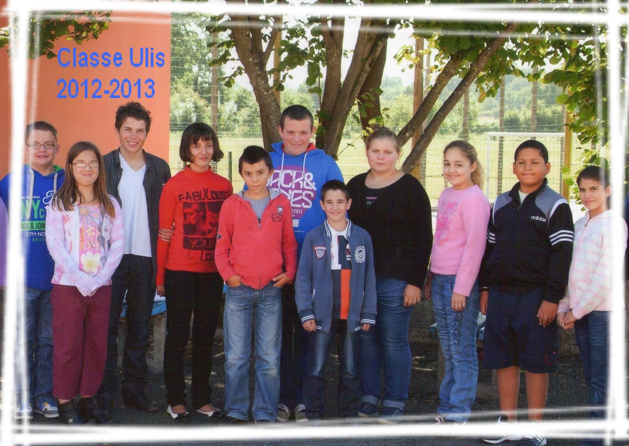 Classe Ulis Rentrée 2012-2013